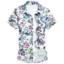 cheap Girls' Dresses-Men's Cotton Shirt - Floral