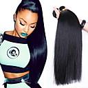 זול תוספות שיער בגוון טבעי-3 חבילות שיער ברזיאלי ישר שיער אנושי טווה שיער אדם שוזרת שיער אנושי תוספות שיער אדם