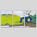 זול ציורי שמן-ציור שמן צבוע-Hang מצויר ביד - L ו-scape מודרני בַּד