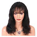 preiswerte Haarteil-Unbehandeltes Haar Spitzenfront Perücke Brasilianisches Haar Große Wellen Perücke Mit Strähnen 130% Natürlicher Haaransatz Damen Mittellang Echthaar Perücken mit Spitze