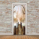 cheap Wall Stickers-Scenic 3D Wall Stickers Plane Wall Stickers 3D Wall Stickers Decorative Wall Stickers Photo Stickers Door Stickers Floor Stickers, Vinyl