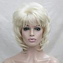 billige Syntetiske parykker-Syntetiske parykker Dame Bølget Blond Lagvis frisyre Syntetisk hår Blond Parykk Lokkløs Bleik Blond