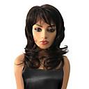 billige Lokkløs-Syntetiske parykker Krøllet Syntetisk hår Brun Parykk Dame Medium Lokkløs