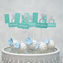 זול קישוטים לעוגה-קישוטים לעוגה פנטזיה חתונה לב עבודת יד חתונה Party עם 1 OPP