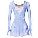 cheap Ice Skating Dresses , Pants & Jackets-Figure Skating Dress Women's Girls' Ice Skating Dress Blue/White Spandex Rhinestone Sequin High Elasticity Performance Skating Wear