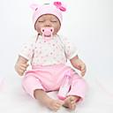 זול בובות-NPK DOLL בובה מחדש תינוקות בנות 22 אִינְטשׁ סיליקון ויניל - כְּמוֹ בַּחַיִים ריסים ידניים ציפורניים אטומות וחותמות הילד של בנות צעצועים מתנות / CE / עור טבעי / ראש דיסקט
