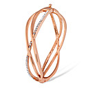 cheap Bracelets-Women's Cubic Zirconia Bangles - Rose Gold, Zircon Classic, Fashion Bracelet Gold For Party / Formal