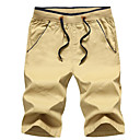 cheap Sleeping Bags & Camp Bedding-Men's Street chic Shorts Pants - Solid Colored Wine / Spring / Summer