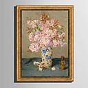 olcso Bekeretezett műalkotások-Bekeretezett vászon Bekeretezett szett - Csendélet Virágos / Botanikus Műanyag Illusztráció Wall Art