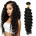 זול תוספות שיער בגוון טבעי-1 עניץ שיער פרואני גל עמוק שיער אנושי טווה שיער אדם שוזרת שיער אנושי תוספות שיער אדם בגדי ריקוד נשים