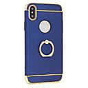 ieftine Cazuri telefon & Protectoare Ecran-Maska Pentru Apple iPhone X iPhone 8 Placare Suport Inel Ultra subțire Capac Spate Culoare solidă Greu PC pentru iPhone X iPhone 8 Plus