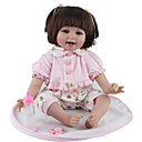 cheap Puppets-NPK DOLL Reborn Doll Baby 22 inch Silicone / Vinyl - lifelike, Hand Applied Eyelashes, Tipped and Sealed Nails Kid's Girls' Gift / CE Certified / Natural Skin Tone / Floppy Head