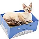 זול קישוטי קיר-חתולים חתול מיטות אומנות גירוד נייר ויצירה בנייר חיות מחמד סלסלות אחיד מאמן מקל מתחים קיפול כחול כהה סגול צהוב עבור חיות מחמד