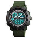 cheap Smartwatches-SKMEI Men's Sport Watch / Fashion Watch / Military Watch Japanese Alarm / Calendar / date / day / Chronograph PU Band Casual / Fashion Black / Green / Grey / Water Resistant / Water Proof / Stopwatch