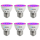 cheap LED Spot Lights-BRELONG® 6pcs 1W 300lm E14 GU10 MR16 E26 / E27 Growing Light Bulb 36 LED Beads SMD 2835 Blue 220-240V