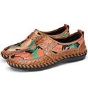 זול נעלי אוקספורד לנשים-בגדי ריקוד גברים מוקסין טול / עור אביב / קיץ נוחות נעליים ללא שרוכים נעלי ספורט מים חום / ירוק / כחול