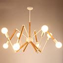 tanie Lampy stołowe-LightMyself™ 8 świateł Lampy widzące Światło rozproszone Malowane wykończenia Drewno / Bambus Czarno-biały 110-120V / 220-240V Ciepła biel / Biały Zawiera żarówkę / 30-40 ㎡ / E26 / E27