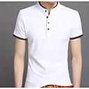 baratos Tênis Masculino-Homens Camiseta Básico, Sólido Colarinho Chinês