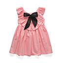 זול שמלות לבנות-בנות פשוט / וינטאג' / בסיסי מכנסיים - אחיד פפיון אודם 100 / Party / כותנה / פעוטות