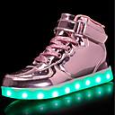 tanie Obuwie dziewczęce-Dla chłopców / Dla dziewczynek Obuwie PU Wiosna Wygoda / Świecące buty Adidasy Spacery Sznurowane / Haczyk i pętelka / LED na Srebrny / Niebieski / Różowy