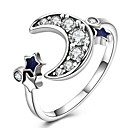 זול Fashion Ring-בגדי ריקוד נשים טבעת הטבעת - כסף סטרלינג, זירקון, ציפוי זהב MOON נשים, קלסי, וינטאג' תכשיטים כסף עבור יומי עבודה מתכוונן