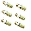 tanie Lampy stołowe-6 szt. 4 W 600 lm E26 / E27 Żarówki LED kukurydza T 96 Koraliki LED SMD 2835 Dekoracyjna Ciepła biel 220-240 V