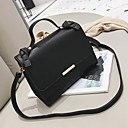 cheap Clutches & Evening Bags-Women's Bags PU Shoulder Bag Zipper Black / Brown / Khaki