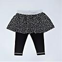 זול מכנסיים וטייץ לבנות-מכנסיים כותנה אביב קיץ יומי דפוס קולור בלוק בנות חמוד פעיל שחור
