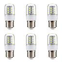 hesapli LED Mısır Işıkları-BRELONG® 6pcs 3W 270lm E14 E26 / E27 LED Mısır Işıklar 24 LED Boncuklar SMD 5730 Sıcak Beyaz Beyaz 220-240V