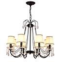 tanie Żyrandole-LightMyself™ 8 świateł Żyrandol / Lampy widzące Światło rozproszone Malowane wykończenia Metal Kryształ 110-120V / 220-240V Nie zawiera żarówek / E12 / E14