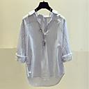 preiswerte Kleidersets für Babys-Damen Niedlich Street Schick Hemd - Gestreift V-Ausschnitt