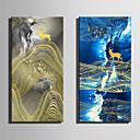 baratos Almofadas de Decoração-Estampados de Lonas Esticada Modern, 2 Painéis Tela de pintura Vertical Estampado Decoração de Parede Decoração para casa