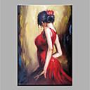 halpa Öljymaalaukset-Hang-Painted öljymaalaus Maalattu - Abstrakti Ihmiset Klassinen Vintage Kangas