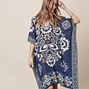 abordables Tocados de Fiesta-Mujer Boho Azul Piscina Tapadera Bañadores - Floral Estampado Tamaño Único