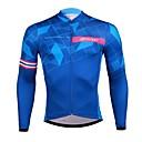 זול כלי הקשה-SPAKCT בגדי ריקוד גברים שרוול ארוך חולצת ג'רסי לרכיבה - כחול Geometry אופנייים ג'רזי, ייבוש מהיר אלסטיין פוליסטר / סטרצ'י (נמתח) / מתקדם / מומחה / רוכסן YKK / איטליה מיובאים דיו