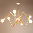tanie Lampy stołowe-LightMyself™ 6 świateł Żyrandol / Lampy widzące Światło rozproszone Malowane wykończenia Metal Drewno / Bambus Czarno-biały 110-120V / 220-240V Ciepła biel / Biały Zawiera żarówkę / E26 / E27