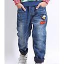 זול סטים של ביגוד לבנים-ג'ינס פוליאסטר אביב שרוול ארוך יומי דפוס בנים פשוט פול כחול בהיר