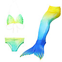 cheap Kids Halloween Costumes-Mermaid Tail Swimwear Men's Women's Halloween Children's Day Festival / Holiday Halloween Costumes Green Solid Colored Mermaid Mermaid