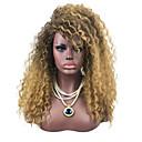 abordables Pelucas Sintéticas de Malla-Pelucas sintéticas Kinky Curly / Rizado Jheri Con flequillo Pelo sintético Pelo Ombre / Peluca afroamericana Negro / Marrón Peluca Sin Tapa Marrón