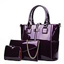 povoljno Komplet torbi-Žene Torbe Patent Leather Bag Setovi 3 kom Patent-zatvarač Crn / Red / Crvena
