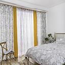 tanie Zasłony okienne-zasłony zasłony Sypialnia Wiele kolorów / Wzory graficzne Mieszanka bawełny i lnu Drukowane
