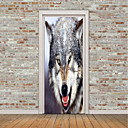 cheap Wall Stickers-Animals Wall Stickers 3D Wall Stickers Animal Wall Stickers Decorative Wall Stickers Door Stickers, Vinyl Home Decoration Wall Decal