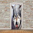 baratos Adesivos de Parede-Animais Adesivos de Parede Autocolantes 3D para Parede Etiquetas de parede de animal Autocolantes de Parede Decorativos Porta Adesivos,