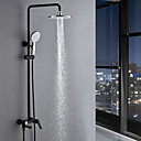 abordables Grifos de Bañera-Grifo de ducha - Moderno Pintura Sistema ducha Válvula Cerámica