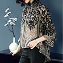 baratos Luminárias de Teto-Mulheres Blusa - Feriado Vintage Manga Alargamento Floral Solto