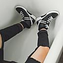 זול סניקרס לגברים-בגדי ריקוד גברים PU סתיו / חורף נוחות נעלי ספורט לבן / שחור