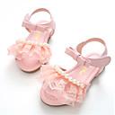 זול נעלי ילדות-בנות נעליים מיקרופייבר קיץ נעליים לילדת הפרחים סנדלים דמוי פנינה / סקוטש ל לבן / ורוד