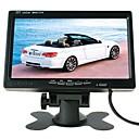 billige Bilryggekamera-ziqiao 7 tommers tft farge lcd nakkestøtte bilparkering bakfra bakover skjerm med 2 videoinngang 2 av i for dvd vcr reverseringskamera
