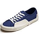 tanie Adidasy męskie-Męskie Komfortowe buty Płótno Wiosna / Jesień Adidasy Biały / Ciemnoniebieski / Jasnożółty