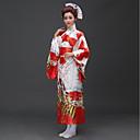 preiswerte Anime Cosplay Perücken-Cosplay Kleid / Kimonoo Damen Fest / Feiertage Halloween Kostüme Rosa / Rot Blumen / Pflanzen Kimono / Traditionell-Klassisch